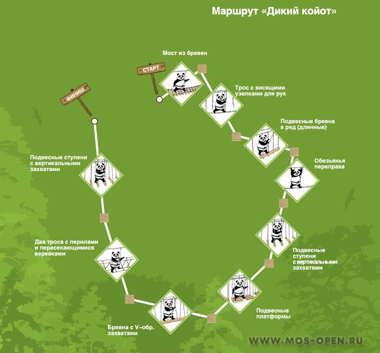 «Панда Парк» в Мещерском лесу маршрута «Дикий койот»