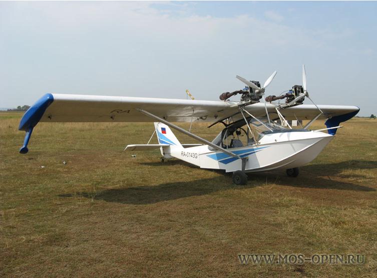 гидро-самолетом «Корвет» Аэроклуб «Аист»