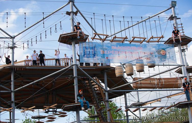 веревочный парк «Sky Town» на ВДНХ